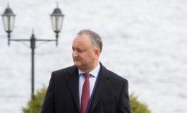 Igor Dodon: Sincere mulțumiri pentru suportul acordat de România Republicii Moldova