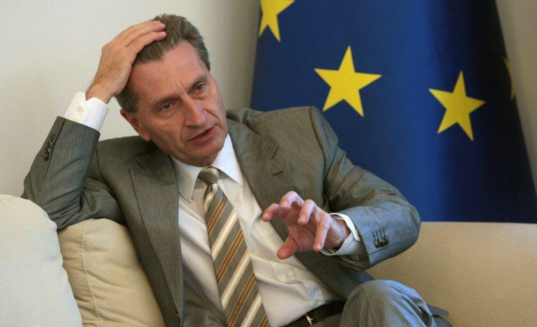 Comisarul european Gunther Oettinger, în vizită la București