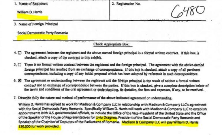 Lobbyștii angajați de PSD pentru Dragnea au intermediat memorandumul dintre Guvern și o firmă de armament din SUA