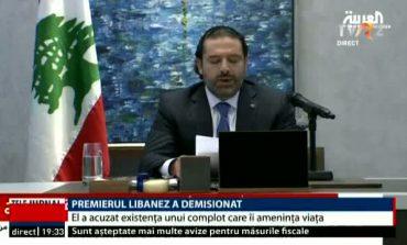 Premierul Libanului a demisionat într-o emisiune tv, prin telefon, din afara țării