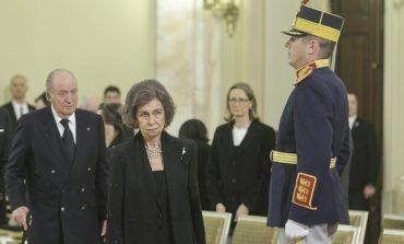 Foştii suverani ai Spaniei, Regina Sofia şi Regele Juan Carlos I, şi-au prezentat omagiile la catafalcul M.S. Regele Mihai I