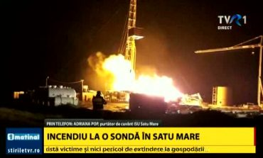 Incendiu puternic la o sondă de gaz în Satu Mare. Va fi stins în câteva zile