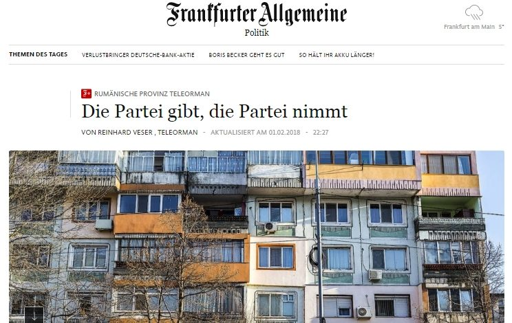 Dragnea și Teleorman în presa germană: Partidul a dat, Partidul a luat. Social-democrații români sunt corupți și au mulți alegători