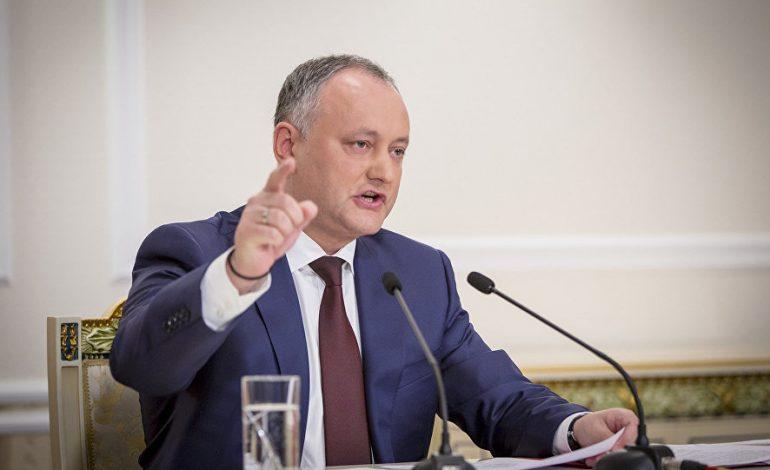 Igor Dodon va convoca Consiliul Suprem de Securitate, după ce câteva localităţi din Republica Moldova au votat unirea cu România