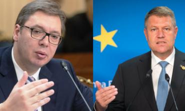 Klaus Iohannis l-a primit, la Palatul Cotroceni, pe preşedintele Serbiei, Aleksandar Vučić