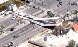 Miami, SUA: Un pod pietonal de acces la Universitatea Internaţională din Florida s-a prăbușit pe o autostradă cu şase benzi şi a ucis mai multe persoane