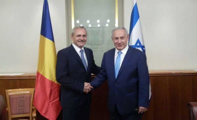 Liviu Dragnea a discutat cu premierul Netanyahu despre un proiect pe sănătate care colectează de la pacienţi date clinice, biologice şi comportamentale
