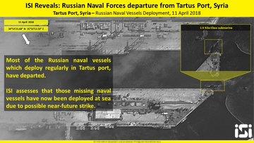 Navele de război rusești din portul sirian Tartus au părăsit zona, în așteptarea unui atac american