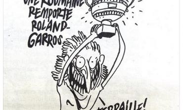 Caricatură cu tentă șovină la adresa românilor, în presa franceză: O româncă a câştigat la Roland Garros - Fier vechi, fier vechi