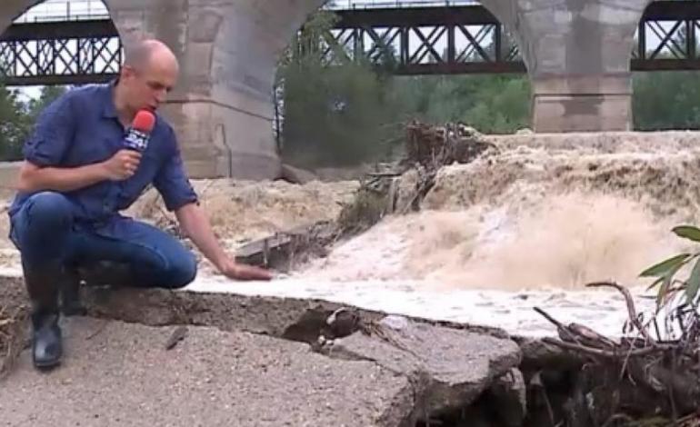 Pod feroviar pe ruta București – Brașov, la un pas să se prăbușească