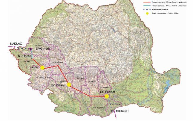 BEI împrumută Transgaz cu 50 milioane euro pentru gazoductul BRUA