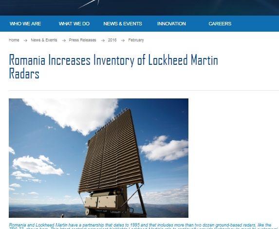 Romtehnica a cumpărat un radar de aproape 14 milioane de euro de la Lockheed Martin