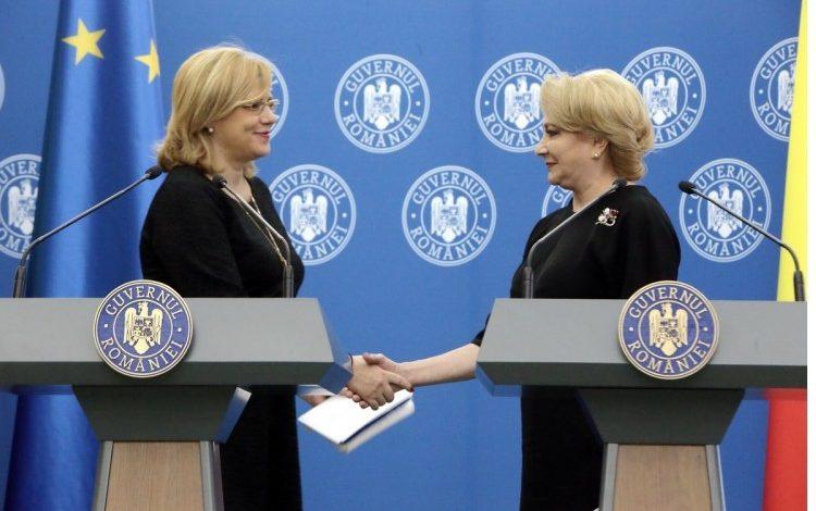 Corina Crețu, după întâlnirea cu Viorica Dăncilă: Sunt foarte îngrijorată de întârzierea proiectelor privind spitalele regionale aprobate în 2015