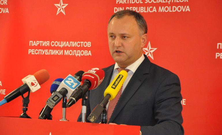 Igor Dodon: Unirea pentru care militează o parte din cetăţenii Republicii Moldova înseamnă război civil