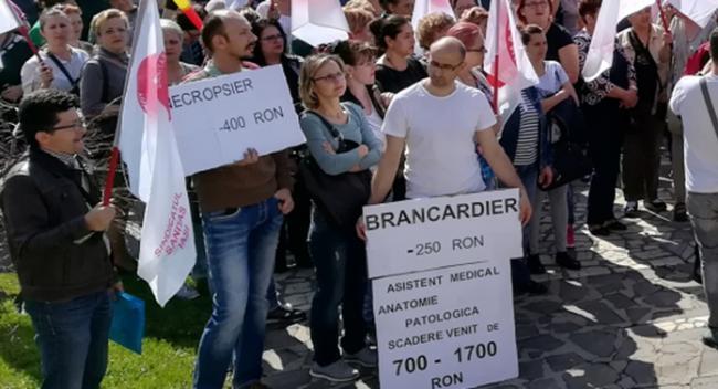 Proteste la mai multe spitale, în Capitală și în țară, din cauza reducerii sporurilor