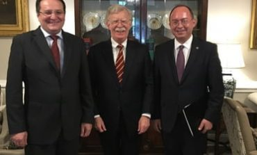 Ambasadorul George Maior și consilierul prezidențial Bogdan Aurescu, întâlnire la Casa Albă cu John Bolton, consilier pentru securitate națională al președintelui Trump