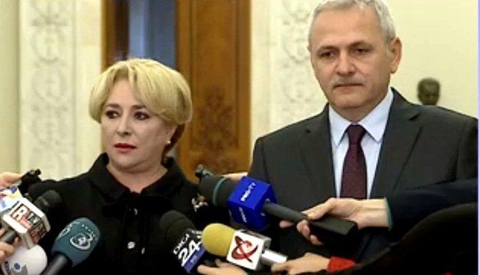 Liviu Dragnea a întrerupt un reporter şi a întrebat-o pe Dăncilă dacă preşedintele Iohannis i-a mai cerut demisia la întâlnirea de marţi
