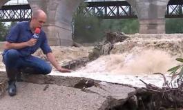 Pod feroviar pe ruta București - Brașov, la un pas să se prăbușească