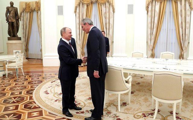 """Șeful OMV, decorat de Putin cu """"Ordinul Prieteniei"""""""